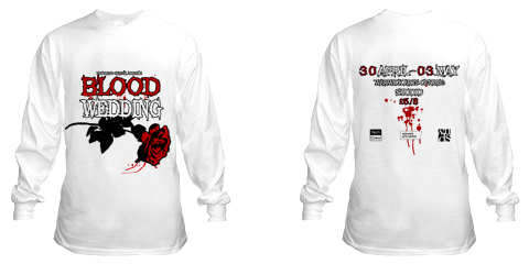 t shirt front and back Blood Wedding T Shirt