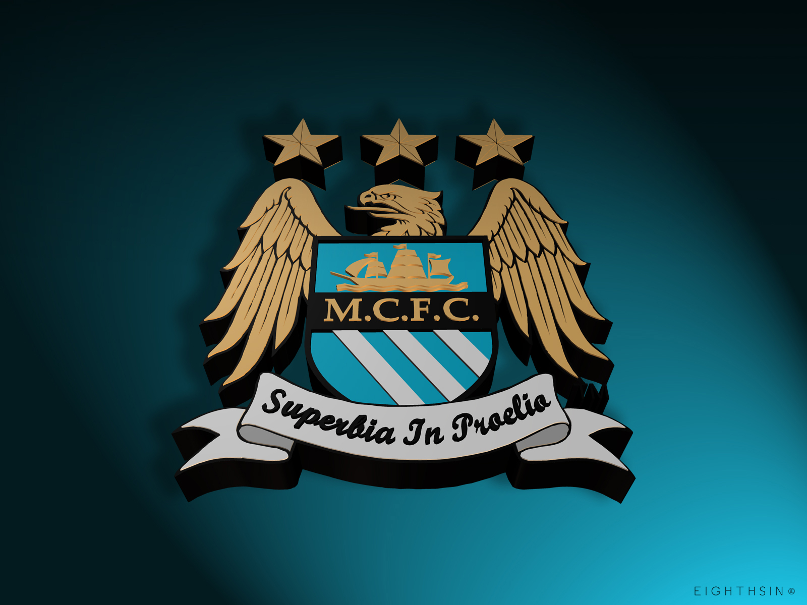 3D 1600x1200 Manchester City 3D Desktop Wallpaper